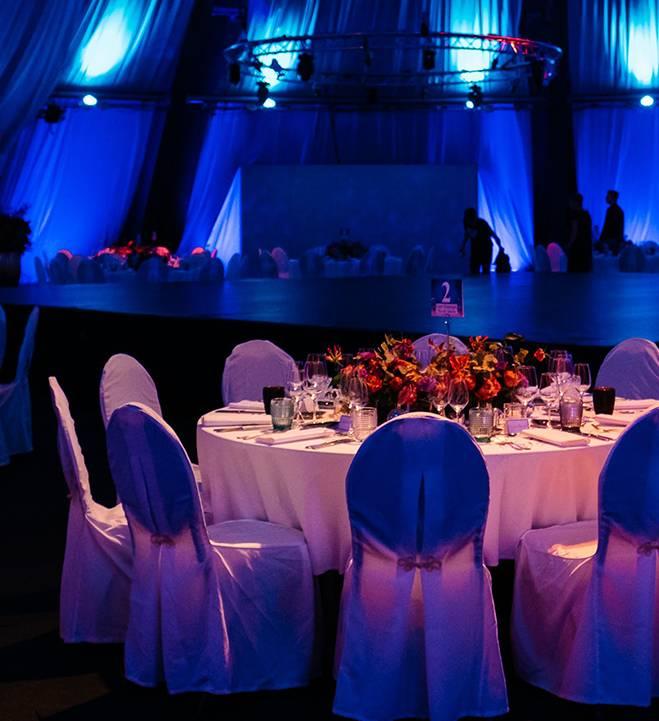 Event Gala runder Tisch mobile Ansicht